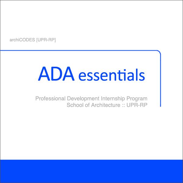 2.2 ADA Essentials